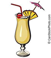 colada, cocktail, pina