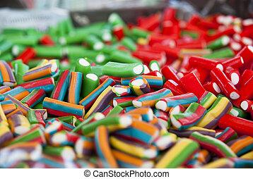 colagem, bala doce, coloridos, doce