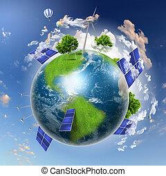 colagem, baterias, solar