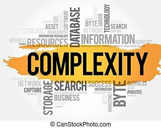 colagem, complexidade, palavra, nuvem