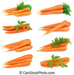 colagem, doce, cenouras
