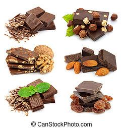 colagem, doce, chocolate