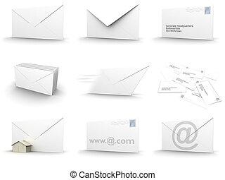 colagem, envelope