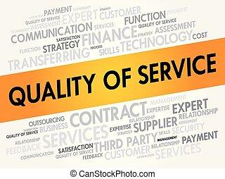colagem, qualidade, palavra, nuvem, serviço