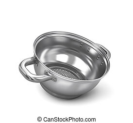 colander, isolated on white background. 3d illustration