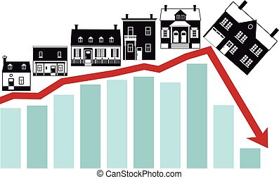 colapso, de, habitação, mercado