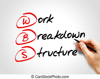 colapso, trabalho, -, wbs, estrutura