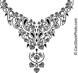 colar, desenho moda