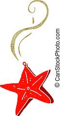 colar, magia, estrela, caricatura
