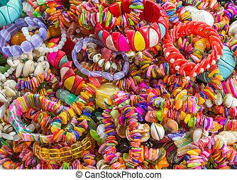 colares, jóia, pulseiras