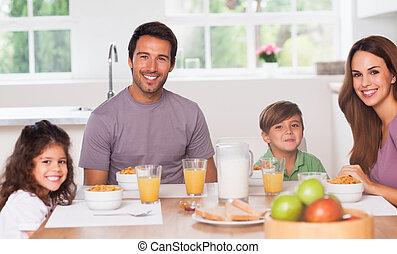 colazione, detenere, famiglia