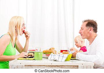 colazione, famiglia, detenere