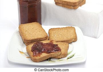colazione, marmellata, rusks