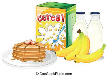 colazione, pieno, pasto