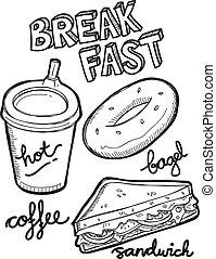 colazione, scarabocchiare