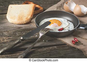 colazione, uova fritte