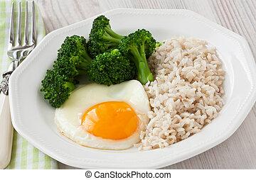 colazione uovo, sano