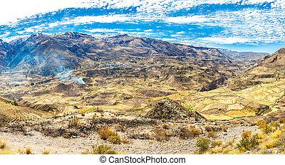 Colca Canyon, Peru,South America Incas to build Farming...