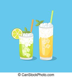 Cold Alcohol Coctail - Cold alcohol coctails and other...