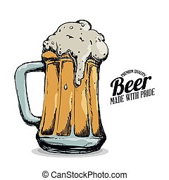 cold beer design, vector illustration eps10 graphic