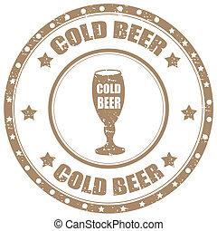 Cold Beer-stamp