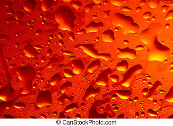 Cold beer with condensation bubbles