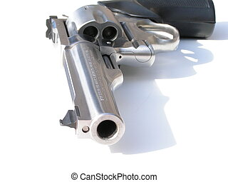cold blooded killer 2 - macro of a .44 magnum isolated on...