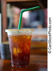 Cold brew coffee or cold black coffee