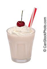 cherry milkshake with whipped cream