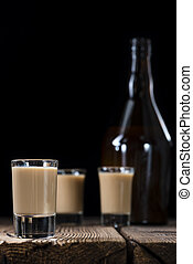 Cold Cream Liqueur - Glass with cold Cream Liqueur on ...