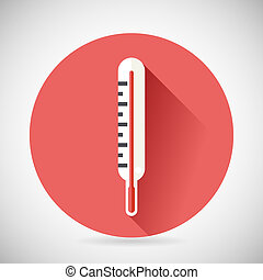 Cold Cure DiseaseTreatment Symbol Medical Thermometer Icon...