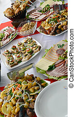 Cold cuts, Buffet, Appetizers