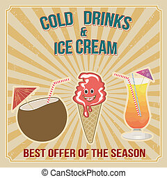 Cold drinks and ice cream stamp