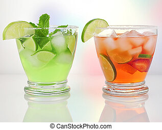 cold drinks - cold fruit drinks with lemon