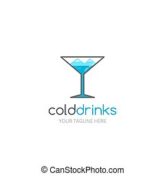 Cold drinks logo. Logo design for night club, bar or etc.