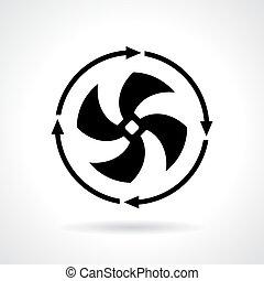Cold fan icon