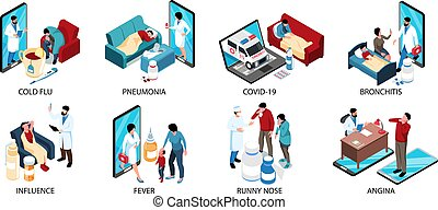 Cold Flu Isometric Compositions