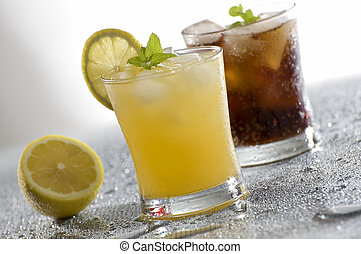 cold fresh yellow drink close up shoot