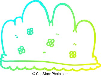 cold gradient line drawing cartoon hedge - cold gradient ...