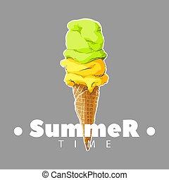 cold ice cream cone