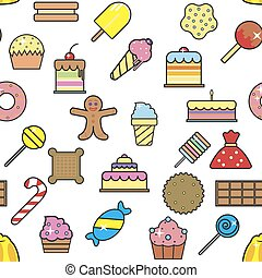 Cold ice cream dessert in crunchy waffle pattern vector