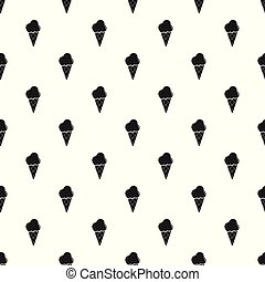 Cold ice cream pattern vector seamless