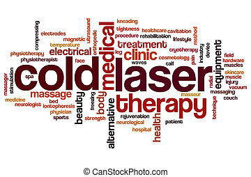 Cold laser word cloud
