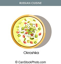 Cold Okroshka with leek and dill from Russian cuisine - Cold...