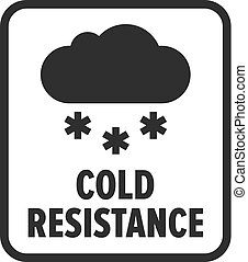 Cold resistance, frost resistance vector symbol
