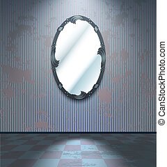 Cold room with mirror
