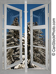 Scandinavian winter landscape