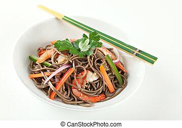 Cold Soba Buckwheat Noodle Salad