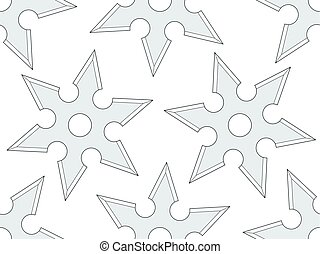 Cold steel shuriken pattern - Seamless pattern of the cold...