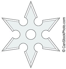 Cold steel shuriken - Illustration of the cold steel...